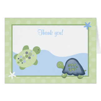 Turtle Reef (Green) Folded Thank you Card