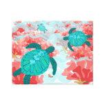 Turtle Reef Print - Coral, Starfish, Clown fish Canvas Print
