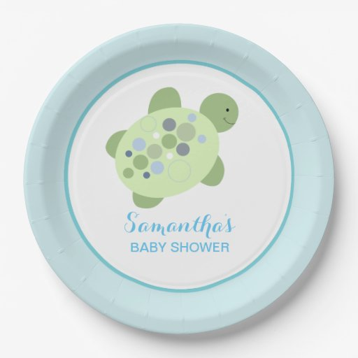 Turtle Reef Sea Turtle Custom Paper Plate