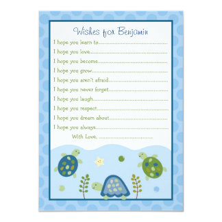 Turtle Reef Sea Turtle Wishes for Baby Cards
