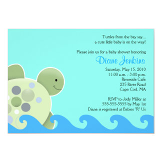 Turtle Reef Seaturtle 5x7 Baby Shower Invitation