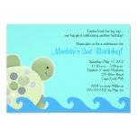 """Turtle Reef Seaturtle 5x7 Birthday Invitation 5"""" X 7"""" Invitation Card"""