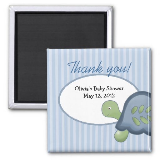 Turtle Reef Tortoise Baby Shower Favor Magnet