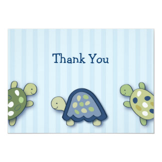 Turtle Reef Turtle Flat Thank You Note Cards Custom Invitation
