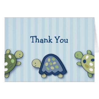 Turtle Reef Turtles Thank You Note Cards