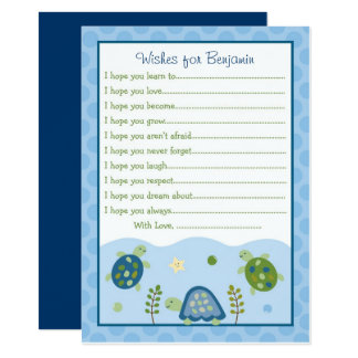 Turtle Reef Wishes for Baby Card