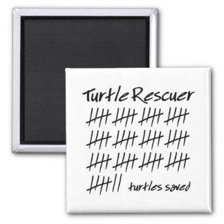 Turtle Rescuer 2 Inch Square Magnet
