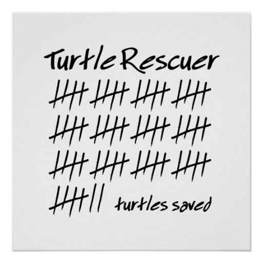 Turtle Rescuer Posters