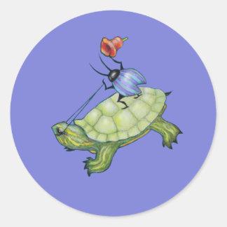 Turtle Rider Bug Stickers