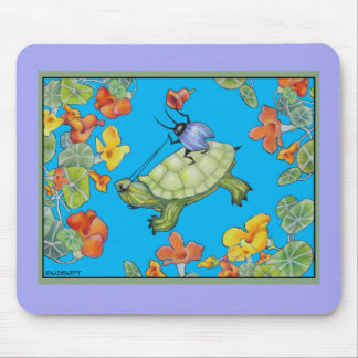Turtle Rider Insect Art Mouse Mat Mouse Pad