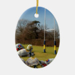 Turtle Rugby Christmas Tree Ornament