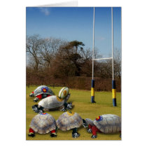Turtle Rugby Greeting Card