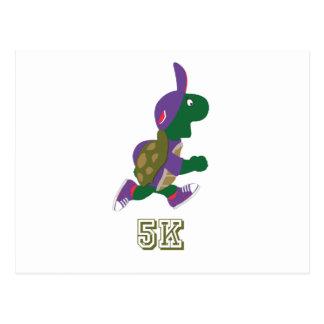 Turtle Runner 5K - Purple Postcard