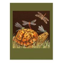 turtle school bus postcard
