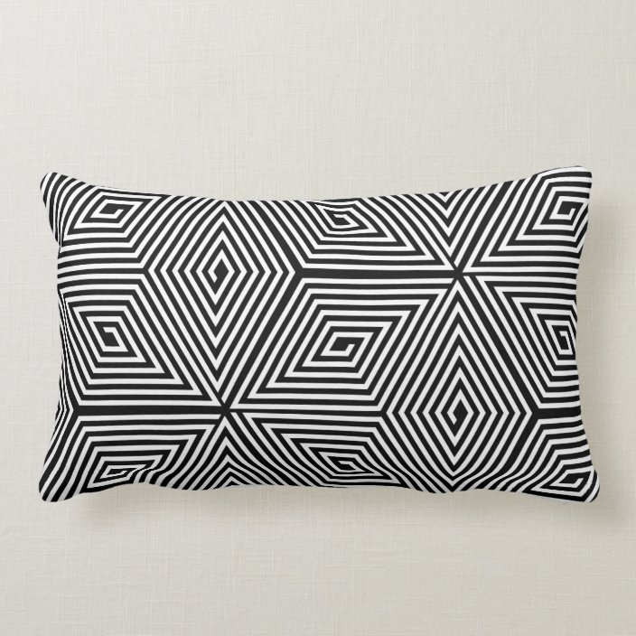 Turtle Shell Black Japanese Traditiona Pattern Lumbar Pillow Zazzle Com