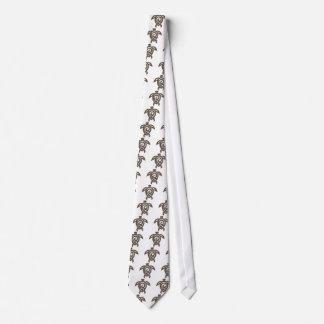 Turtle-shell-print Neck Tie