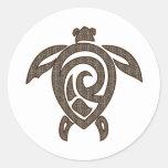 Turtle-shell-print Sticker
