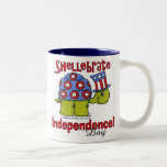 Turtle Shellebrate Independence Day! Coffee Mugs