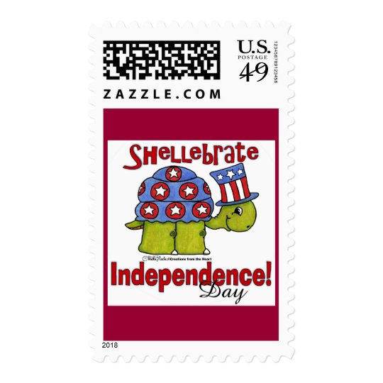 Turtle Shellebrate Independence Day! Postage