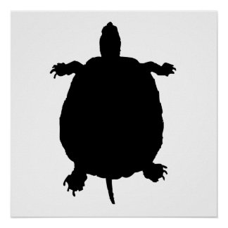 Turtle Silhouette Poster