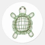 Turtle Sketch Classic Round Sticker