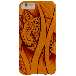 turtle sketch design with spearheads on orange barely there iPhone 6 plus case