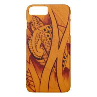 turtle sketch design with spearheads on orange iPhone 8 plus/7 plus case