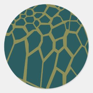 Turtle skin classic round sticker