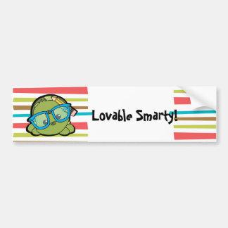 Turtle Smarty Car Bumper Sticker