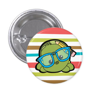Turtle Smarty Pinback Button