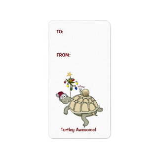 Turtle & Snail Christmas Present Labels Tags