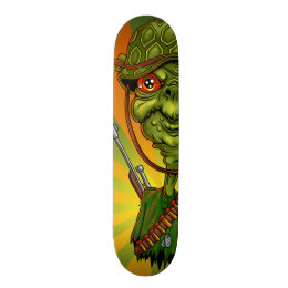 turtle soldier - funny army character skateboard