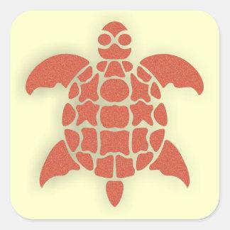 Turtle Square Sticker