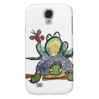 Turtle Step Stool for Frog Eyeing a Butterfly Samsung Galaxy S4 Cover