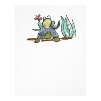 Turtle Step Stool for Frog Eyeing a Butterfly Letterhead Template