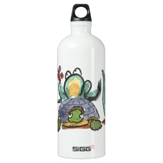 Turtle Step Stool for Frog Eyeing a Butterfly SIGG Traveler 1.0L Water Bottle