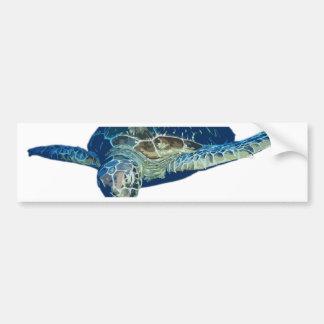 Turtle swim bumper sticker