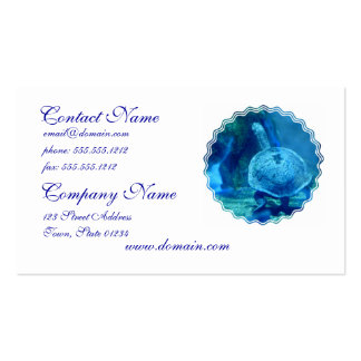 Turtle Swimming Underwater Business Card