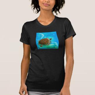 Turtle Swimming Womens T-Shirt