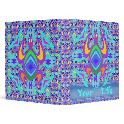Sea turtle design in simple lines Tribal style in bright colors