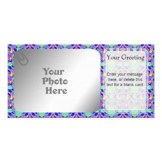 Turtle Symmetry Pattern PhotoCard Template Custom Photo Card