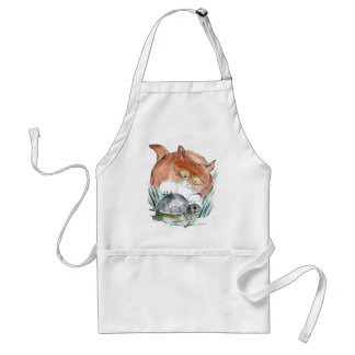 Turtle Tag - Kitten says You're it! Adult Apron