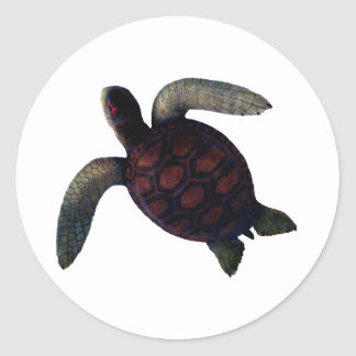 Turtle The MUSEUM Zazzle Gifts Classic Round Sticker