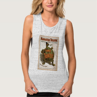 Turtle Theater Vintage Book Cover Tank Top