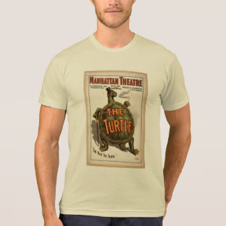 Turtle Theater Vintage Book Cover T Shirts