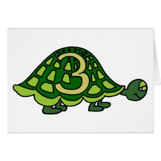 Turtle Third Birthday Party Invitations