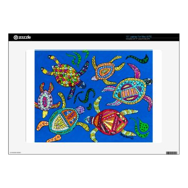 """Turtle Time 15"""" Laptop Decal"""