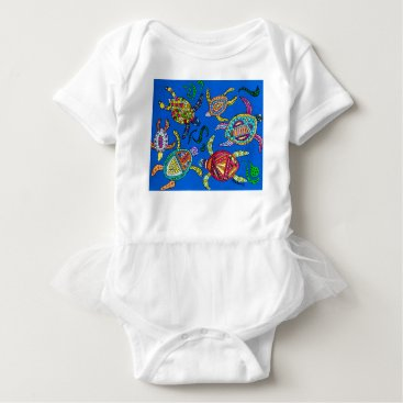 Turtle Time Baby Bodysuit