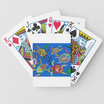 Turtle Time Bicycle Playing Cards