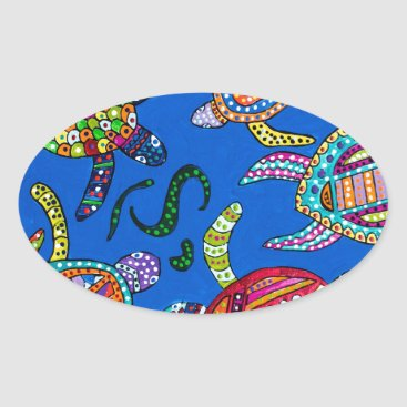 Turtle Time Oval Sticker